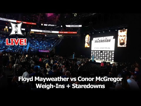 Floyd Mayweather vs Conor McGregor Weigh-Ins + Staredowns (LIVE!)