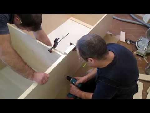 видео: Сборка встроенного шкафа,  описание  для чайников,часть 1