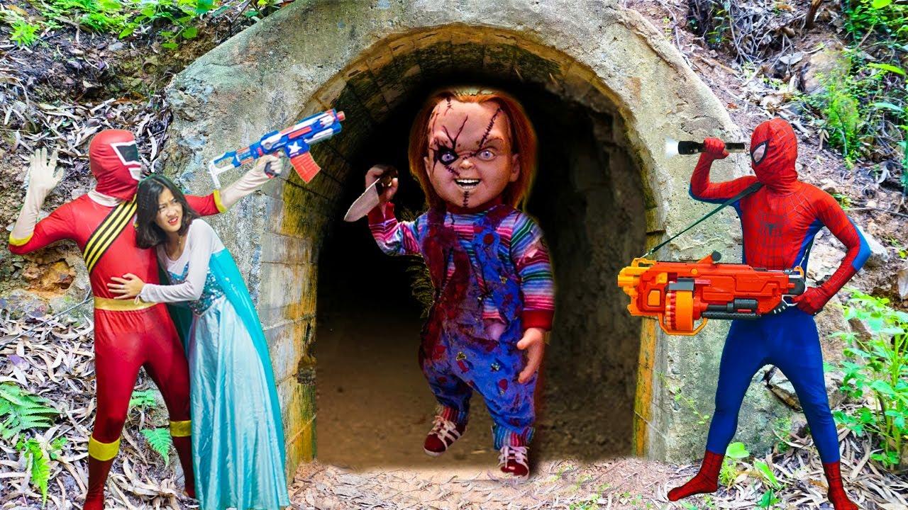 MKTD Nerf Wars : Squad Superheroes SEAL X Warriors Nerf Gun Fight Zombie Defeat Killer Clown