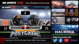 Laredo United Vs. Mission High Bi-District Football Playoffs Week 12 (audio)