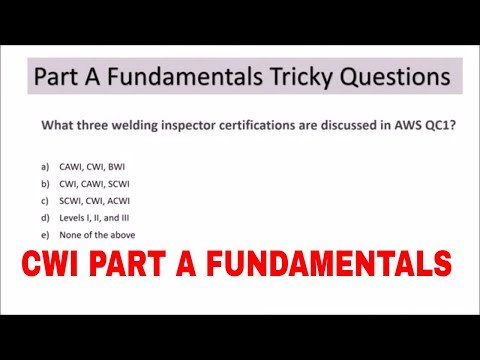 CWI 26 -  PART A FUNDAMENTAL SAMPLE TRICKY QUESTIONS THAT ARE ASKED