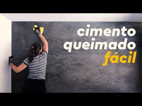 COMO FAZER PAREDE DE CIMENTO QUEIMADO (FÁCIL)