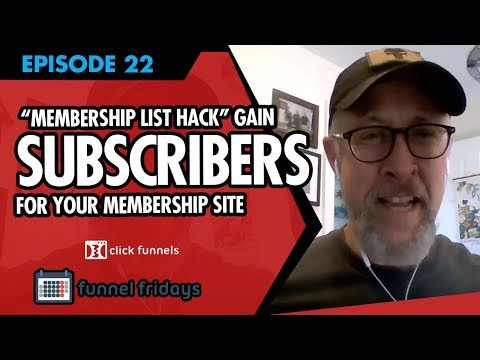 """How to gain subscribers for your membership site -  Watch our """"Membership List Hack"""""""