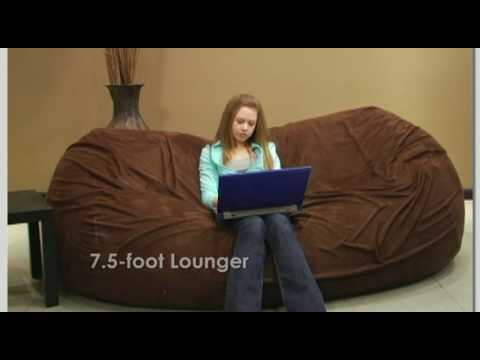 Large Bean Bag Chair Loungers From Comfy Sacks   YouTube