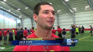 Local high school football players participate in Sussex Hamilton combine