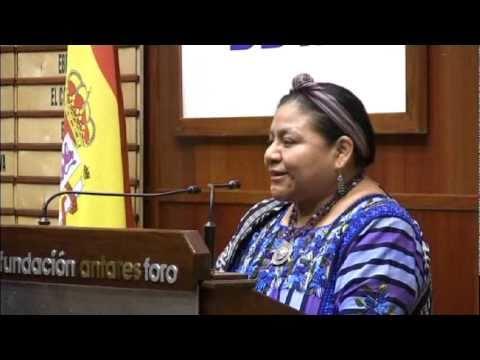 Conferencia de Rigoberta Menchú, premio Nobel de la Paz