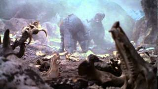 Giant Tyrannosaurus vs. Giant Triceratops from The Last Dinosaur (1...