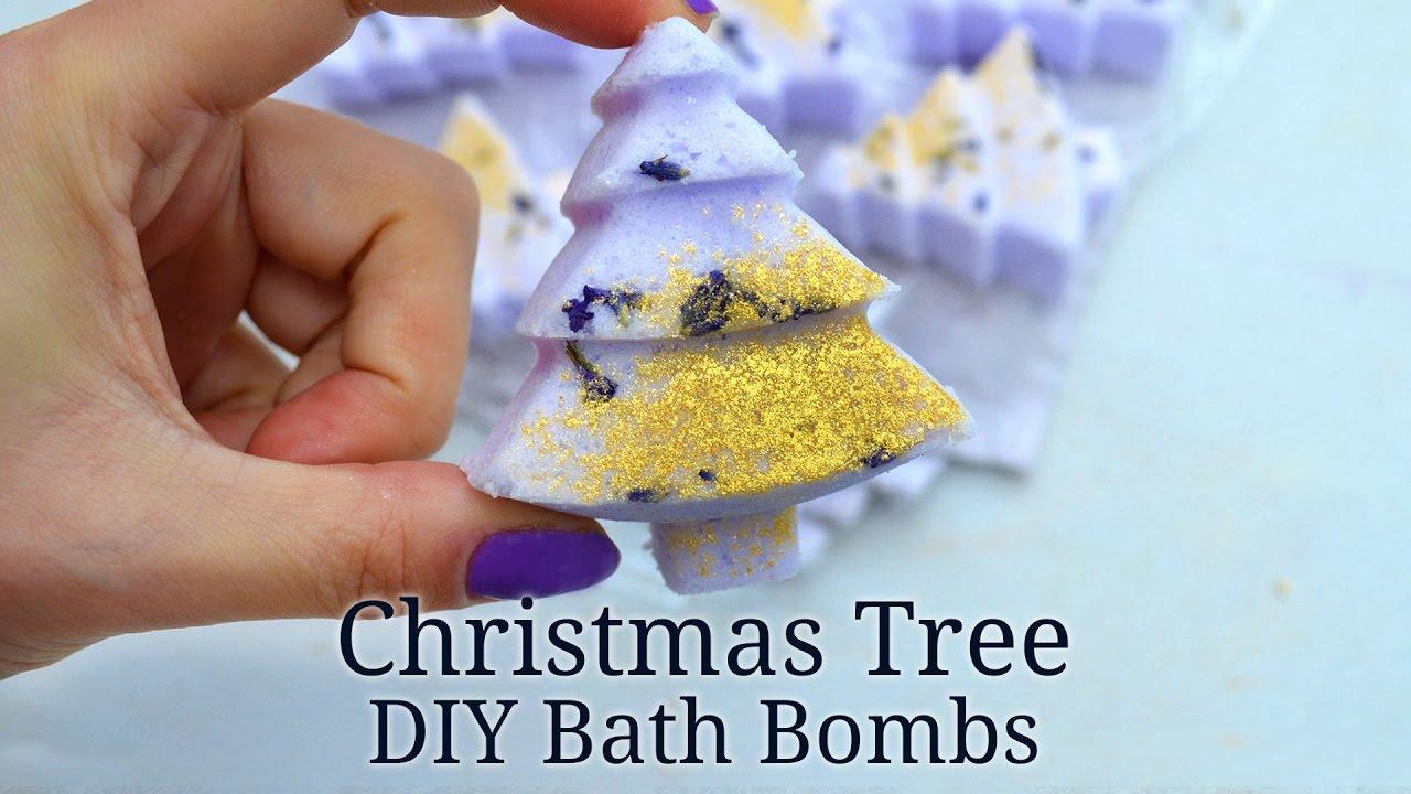 Christmas Bath Bombs.How To Make Christmas Tree Bath Bombs