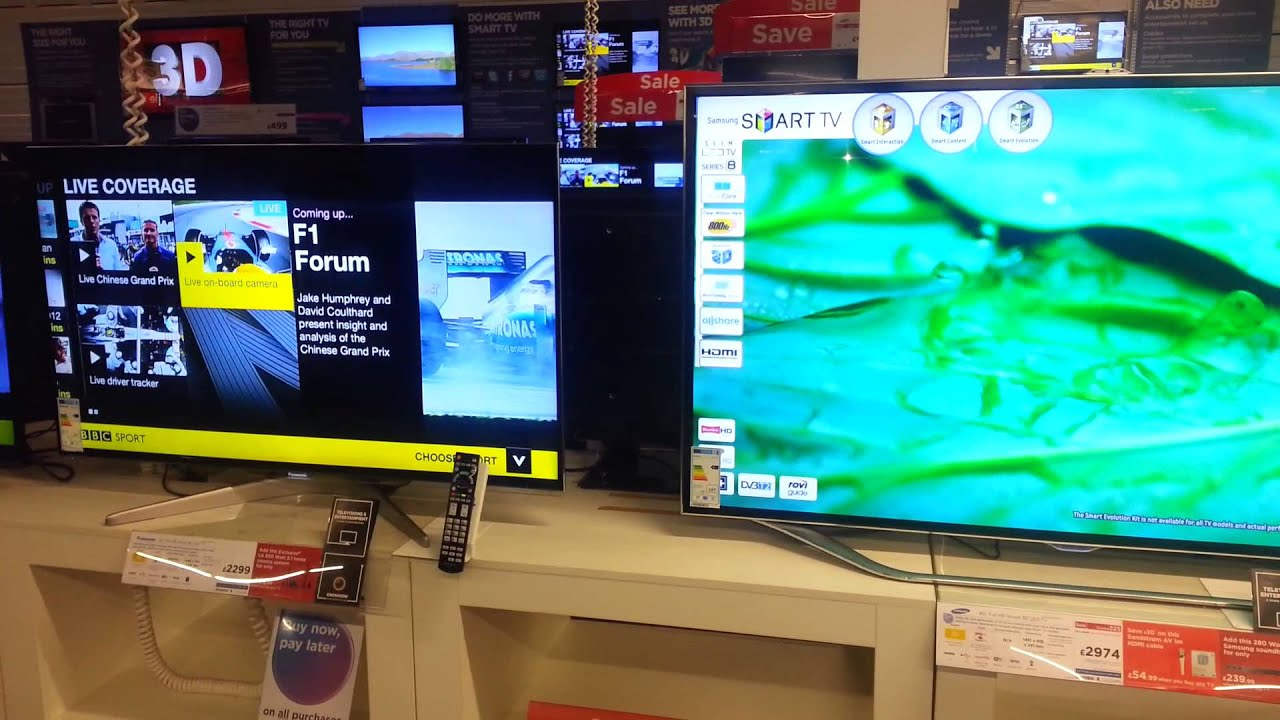 65inch Tv Dimensions Samsung Es8000 65inch Size Compared To 55inch Youtube