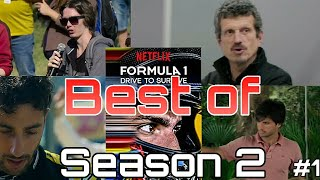F1 : Drive to Survive Season 2 Best of Part 1 : Magnussen smashes the door & more