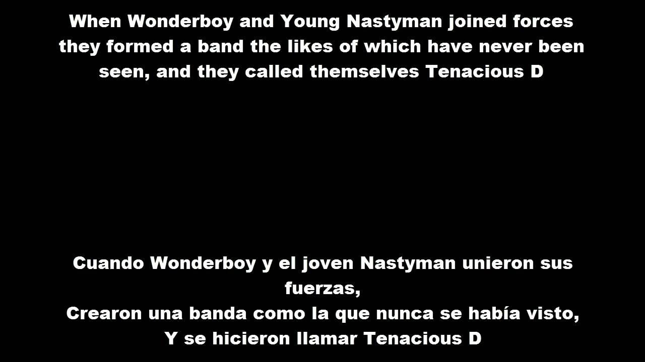 tenacious-d-wonderboy-lyrics-y-subtitulos-en-espanol-el-d-tenas
