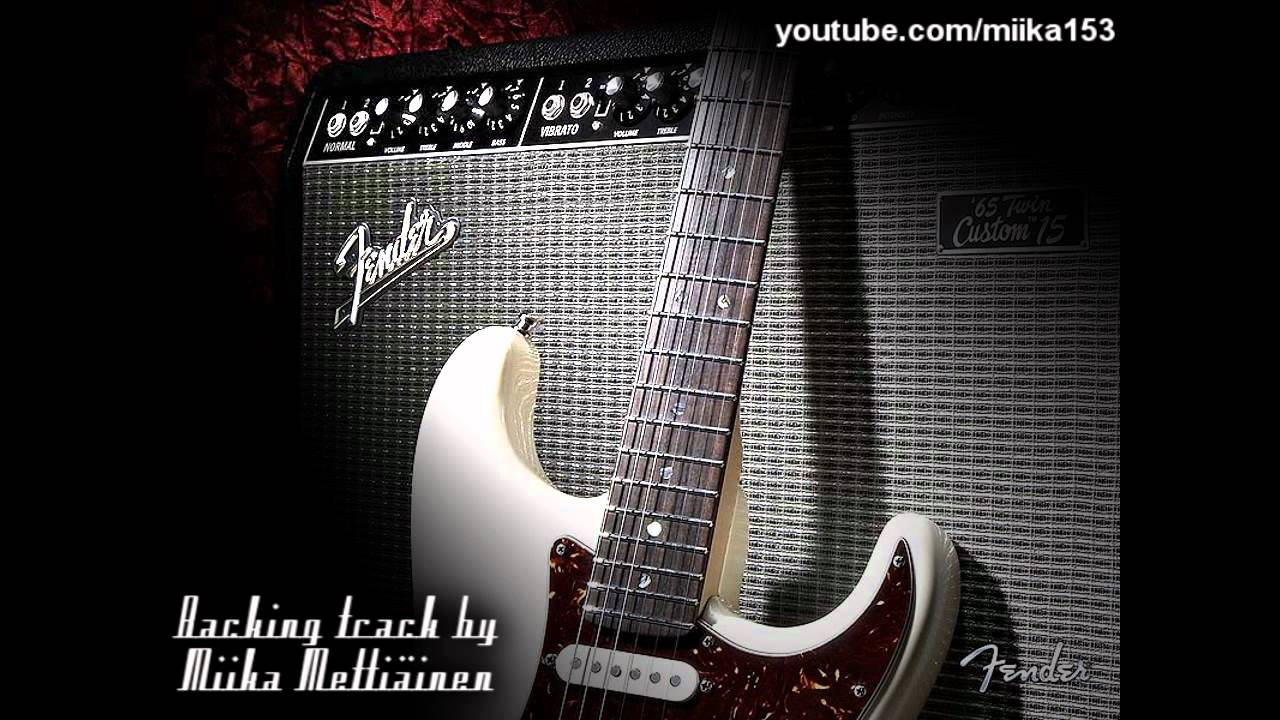 Dark Blues Classic Rock Backing Track in C#m for Guitar
