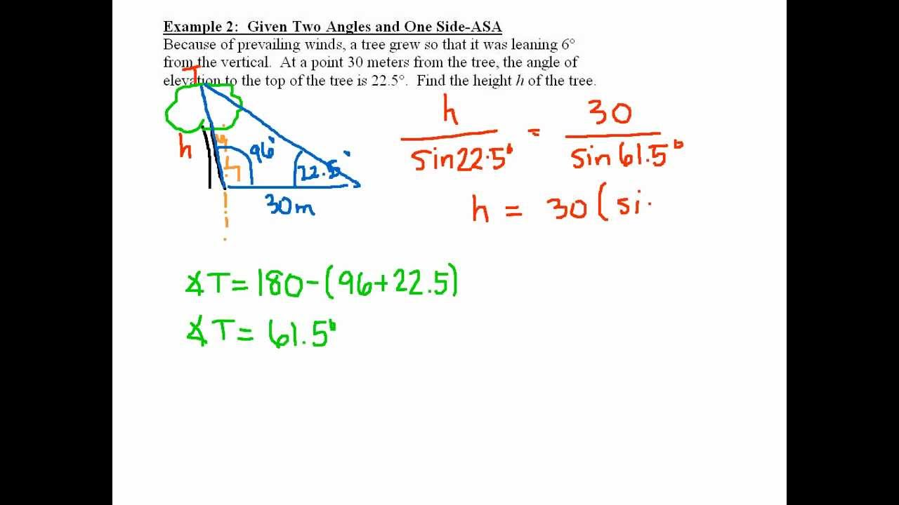 how to work out angles of given the side measurements