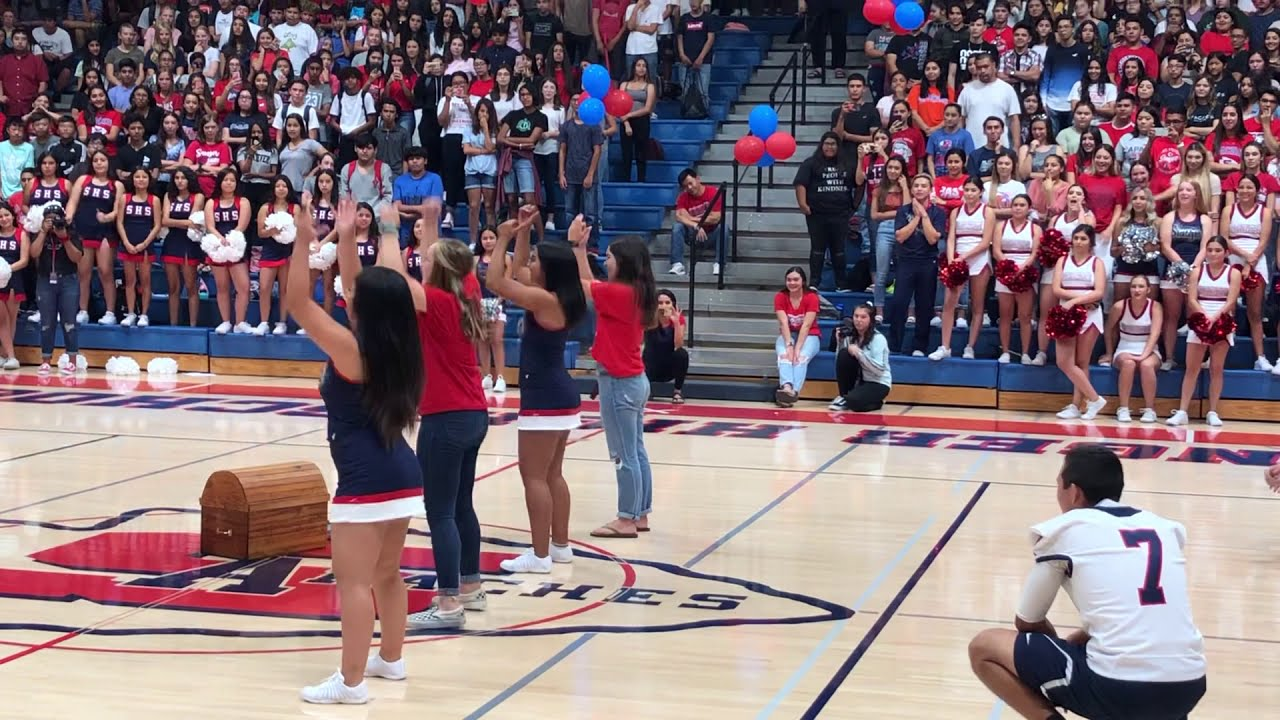 Tiktok Dance Battle at school rally!