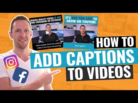How to Add Captions to Videos ('Bake-in' Subtitles for Instagram Videos!)