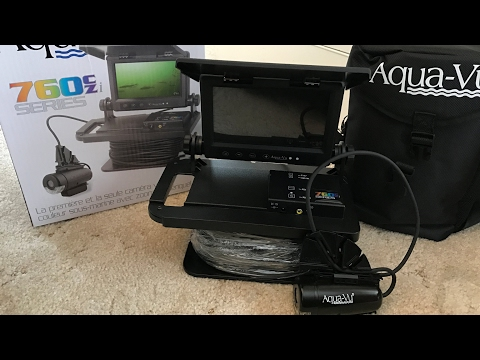2017 Aqua Vu 760CZi Underwater Fishing Camera Unboxing And Short Demo By Onza04