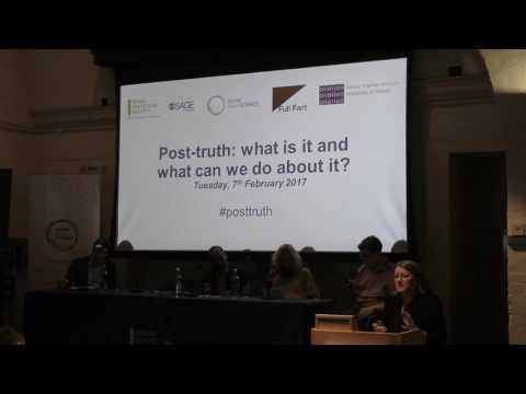 Post-truth: what is it and what can we do about it?