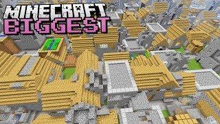 THE BIGGEST VILLAGE in Minecraft Ever Found!