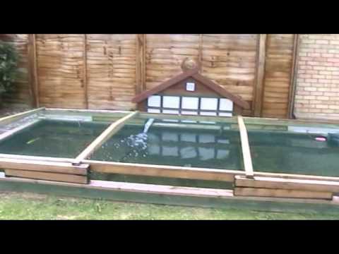 Garden Pond Netting Frame - 700m high garden vegetable fruit cage ...