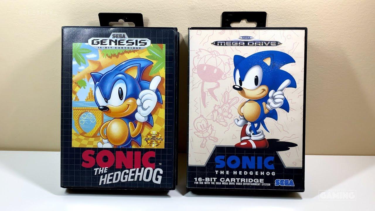 Box Art Sonic The Hedgehog 1991 Sega Genesis Mega Drive Youtube