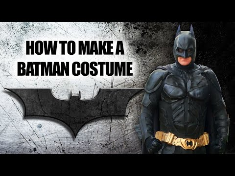 How to build homemade Dark Knight Bat suit armor from scratch - Wellington Batman