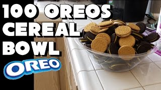 100 Oreo Cereal Bowl Eating Challenge *5500 Calories* | FreakEating vs World