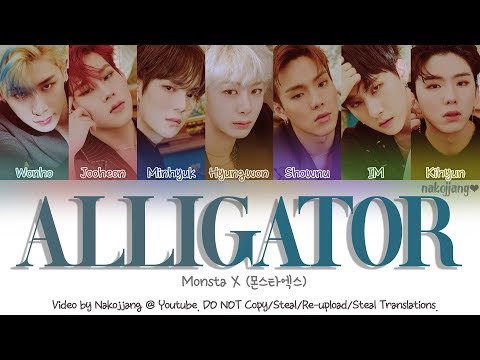 Monsta X (몬스타엑스) – Alligator (Color Coded Lyrics Eng/Rom/Han/가사)
