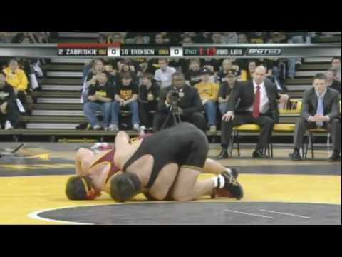 David Zabriskie ISU vs Dan Erekson Iowa  2008 College Wrestling
