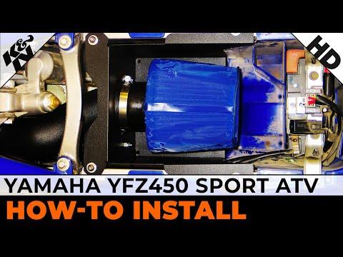 Air Intake Installation for 2004-2009 Yamaha YFZ450 Sport ATV - YouTube