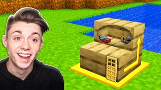 Building a Minecraft House INSIDE a STAIR BLOCK!?