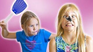 Амелия, Авелина и Аким - приключения в аквапарке в Дубае.