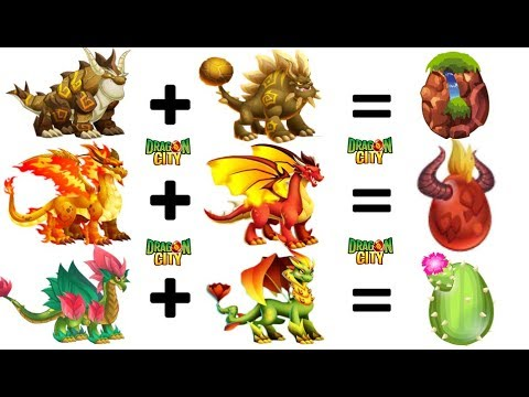 How to breed all DOUBLE ELEMENT Dragons in Dragon City 2018 😍
