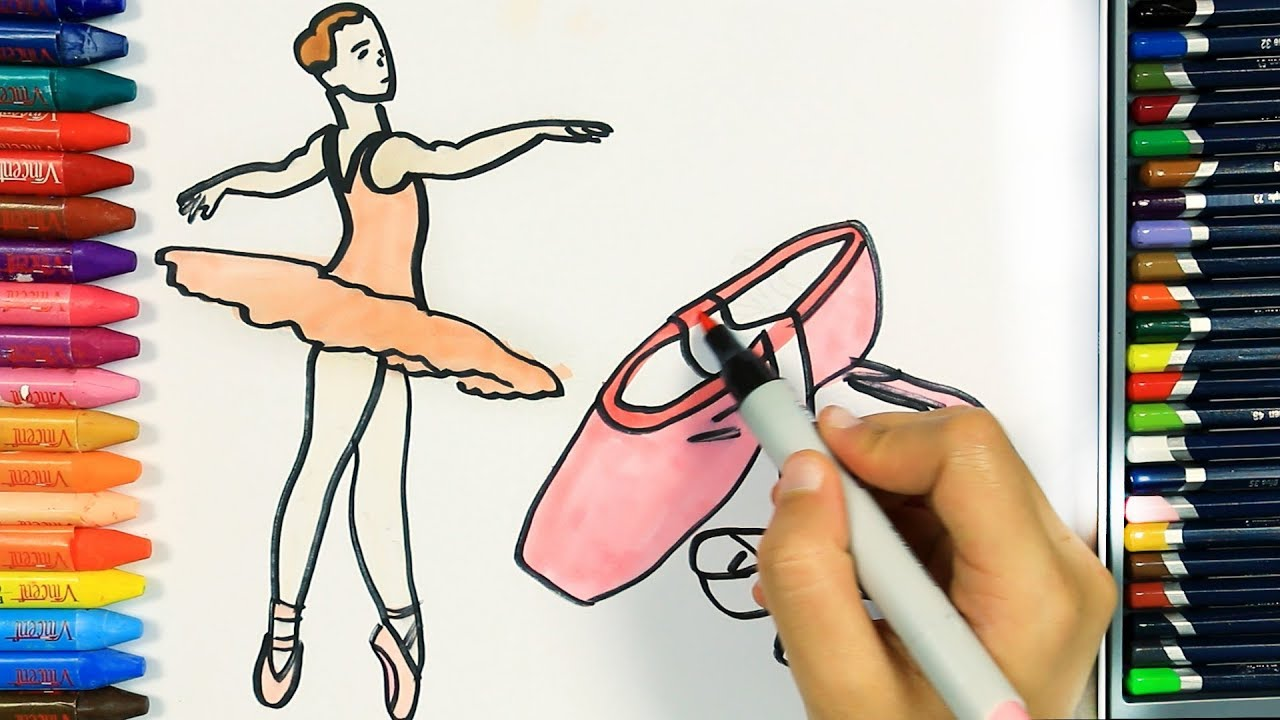 Как нарисовать балерина 💕 | Раскраски детей HD | Рисование ...