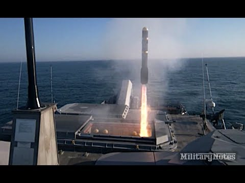 Navy ship's Hellfire missile destroys fast-attack boat target