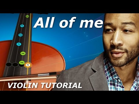 All Of Me - Violin Tutorial Free Easy