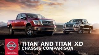 2017 Nissan TITAN vs TITAN XD | Chassis Comparison thumbnail