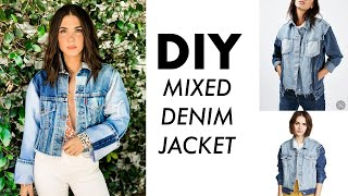 DIY: Mixed DENIM Jacket // Use Old Jeans or Scraps!!) By Orly Shani