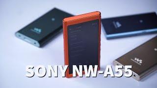 Trên tay máy nghe nhạc Sony NW-A55