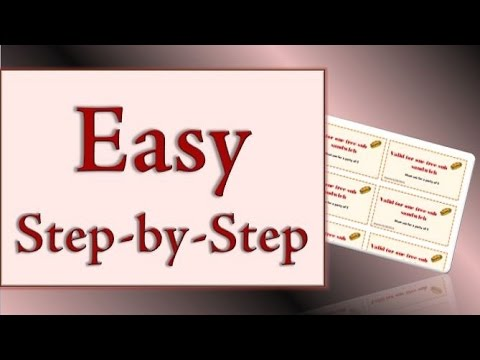 How to Make Coupons in Microsoft Word - YouTube