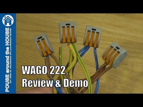 WAGO 222 connectors review and demo. How to use with WAGOBOX Junction Box.