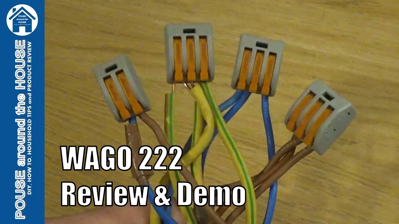 wago 222 connectors review and demo how to use with wagobox junction box  [ 1280 x 720 Pixel ]