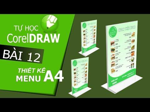 CorelDraw X6: Thiết kế Menu A4 với CorelDraw - Bài 12
