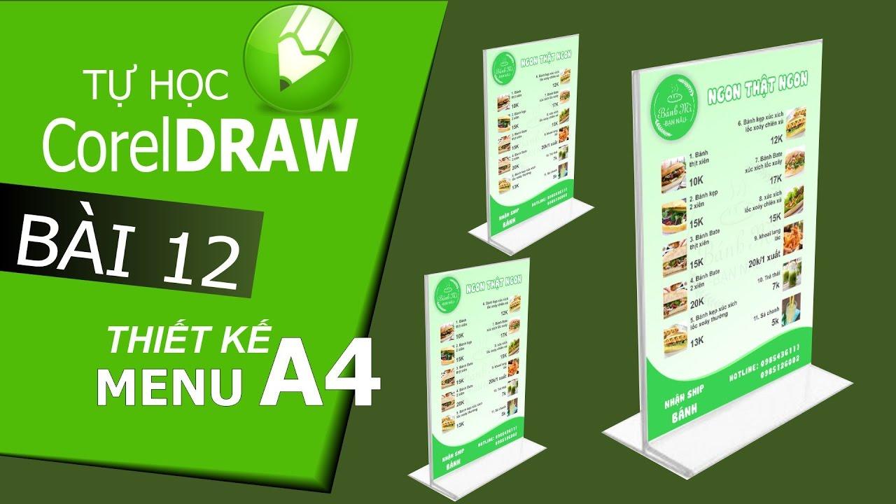 CorelDraw X6: Thiết kế Menu A4 với CorelDraw – Bài 12
