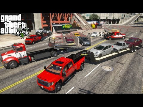 GTA 5 Real Life Mod #229 Ace Towing Hauling Damaged Cars Away From A Scaffolding Collapse Accident