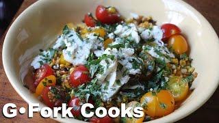 Roasted Sweet Corn & Cherry Tomato Salad : Gardenfork Cooks
