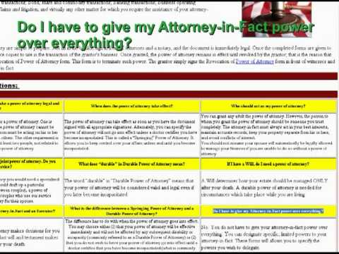 Do It Yourself Power Of Attorney Forms Youtube
