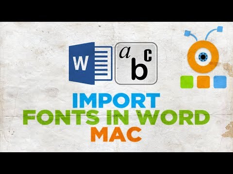 How To Import Fonts In Microsoft Word On A MacOS | How To Add Fonts To Word On MacOS
