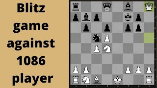 Chess Blitz Online game: Playing somebody way under my strength!