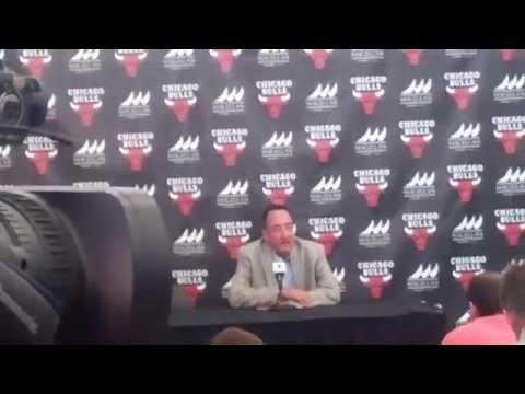 Chicago Bulls GM Gar Forman at 2014 media day