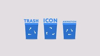 Trash icon animation - After Effects tutorial